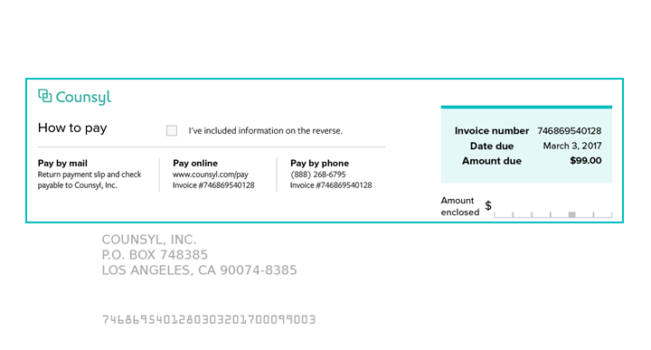 counsyl | invoice and payment, Invoice templates
